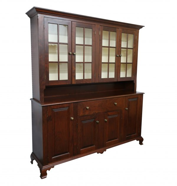 Cherry China Stepback Cabinet-2 Piece