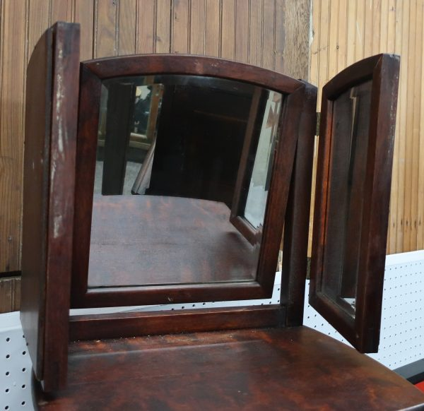 Antique Shaving Mirror Stand-Fold Out Mirror