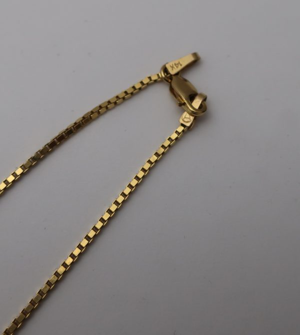 14K YG Box Link Chain-20""