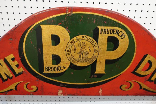 Vintage Brooke and Prudencio Trade Sign-Double Sided