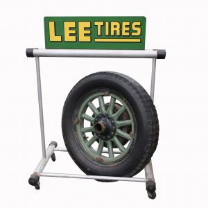 Lee Tire Stand and Early Wheel