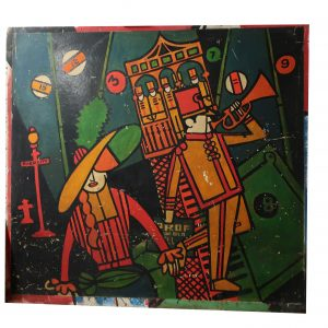"Mid-Century ""Sho Bar"" River City The Music Man Wall Panel-Bright Artwork-72"" wide"