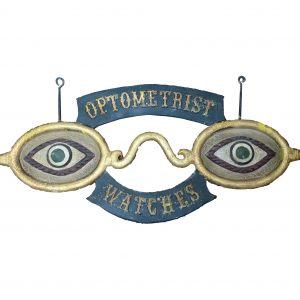 Antique Metal Optometrist Sign circa 1920-Concord, New Hampshire