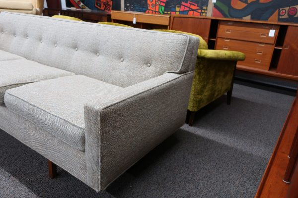 Mid-Century Edward Normley Bracket Back Couch for Dunbar