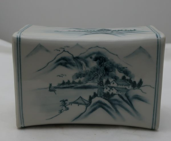 Chinese Porcelain Blue Painted Pillow