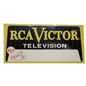 Vintage RCA Victor Television Metal Sign