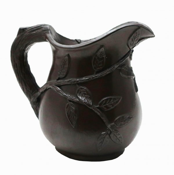 Early Red Ware Pitcher with Applied Leaves