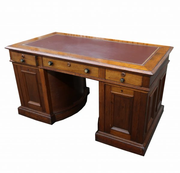 Antique Victorian Eastlake Walnut Marble Top Vanity Dresser