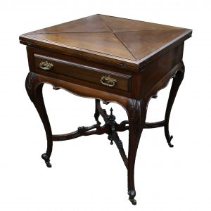 Louis XV Style Game Table with Envelope Fold Top