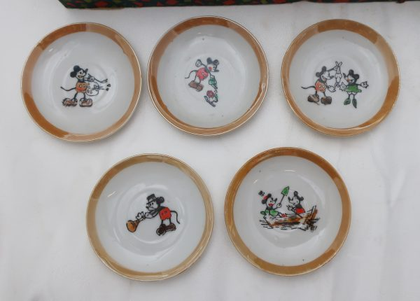 Early Mickey Mouse Child Tea Set in Box-Japan