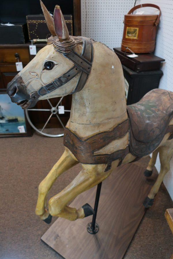 Wood Merry Go Round Stationary Horse-Circa 1920
