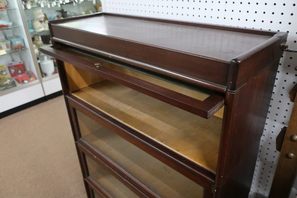 J. Dell Furniture Mahogany 4 Stack Bookcase