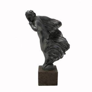 Signed Sykes Hood Ornament on Marble Base