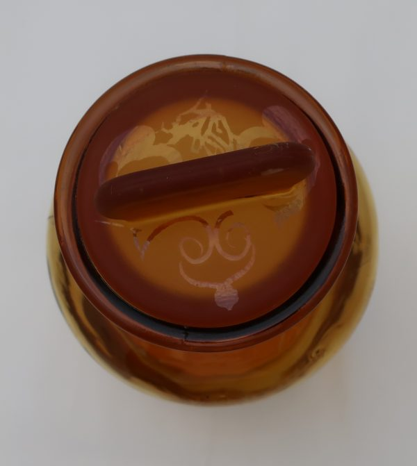 Amber Glass Witch Hazel Jar with Lid