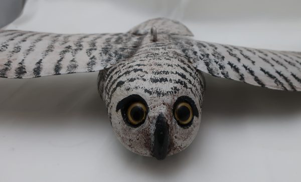 Hand Painted Flying Snowy Owl Figure
