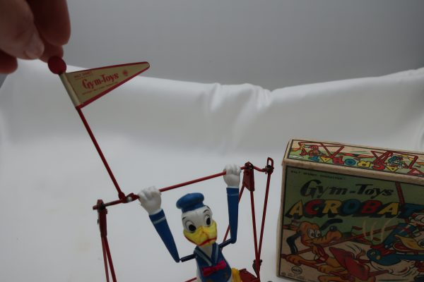 Linemar Gym Toys Donald Duck Wind Up Acrobat with Box