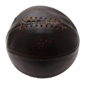 1940's Lace Up Leather Basketball