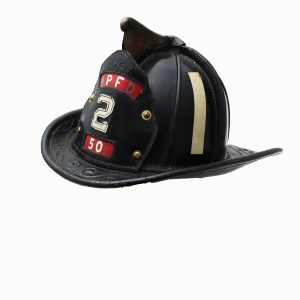 1930 All Leather Fire Helmet by Cairns Brothers
