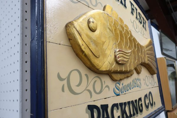 East Bay Fish Packing Co. Wood Restaurant Sign