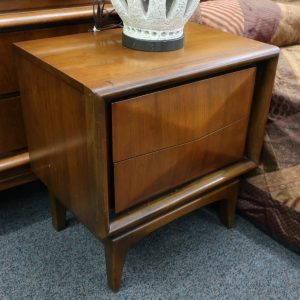 Mid Century United Diamond Front Bedside Cabinet