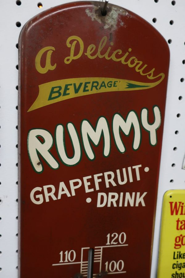 Vintage Rummy Soda Thermometer