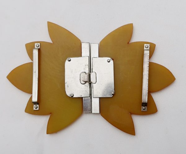 Butterscotch Color Bakelite Buckle-2 Piece
