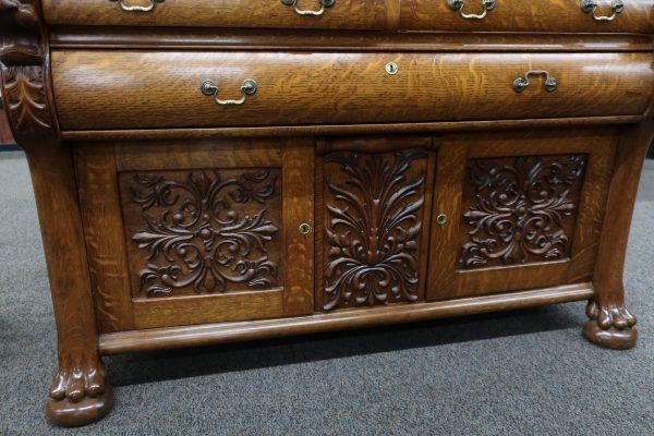 3 Piece Horner Style Antique Oak Buffet-Circa 1890