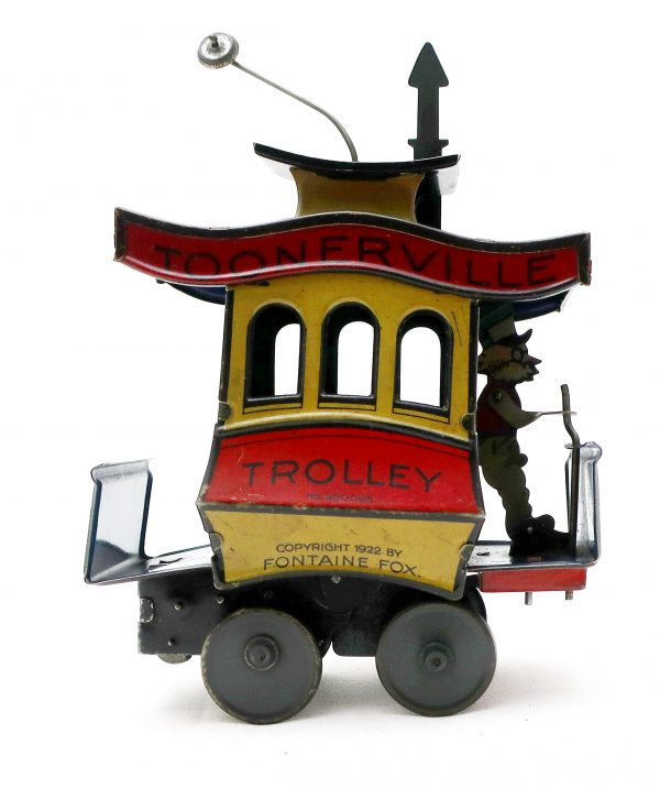 1922 Fontaine Fox Toonerville Toy Trolley-Wind Up Tin