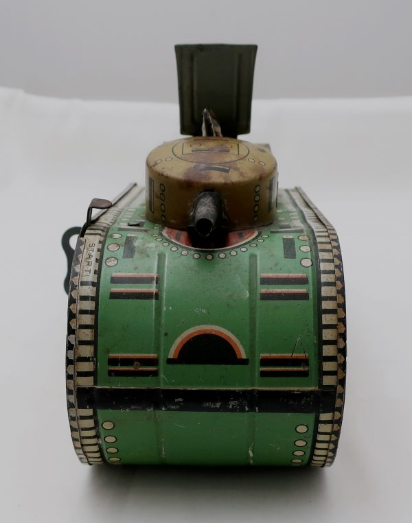 1936 Marx Dough Boy Tank-Tin Wind Up Motor