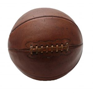 1940's Rawlings Leather Lace Up Basketball