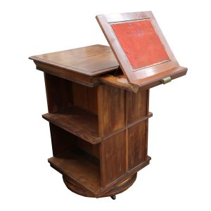 Sargent Mfg. Co. Revolving Bookcase with Pullout Book Stand-Patent 1883