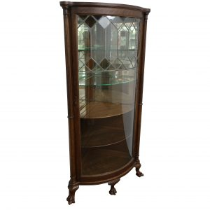 Antique Corner Claw Foot China Cabinet-Circa 1910