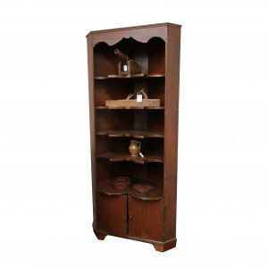 """1700's Corner Cupboard with Bowtie Shelves-84"""" tall"""