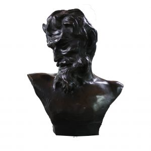"Jef Lambeaux Bronze Bust of FAUN-22"" tall"