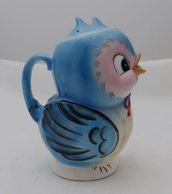 Vintage Lefton Bluebird Musical Teapot with Lid-Tea for Two