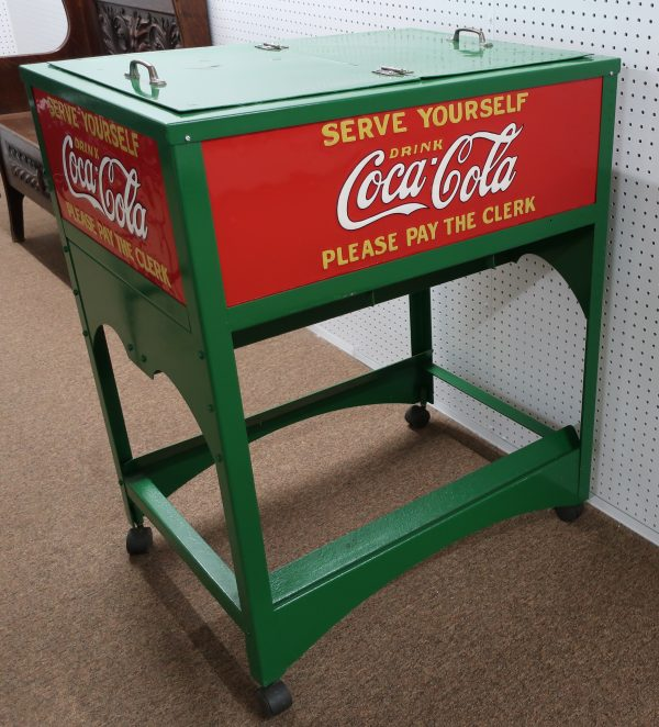 Vintage Coca Cola Rolling Ice Chest