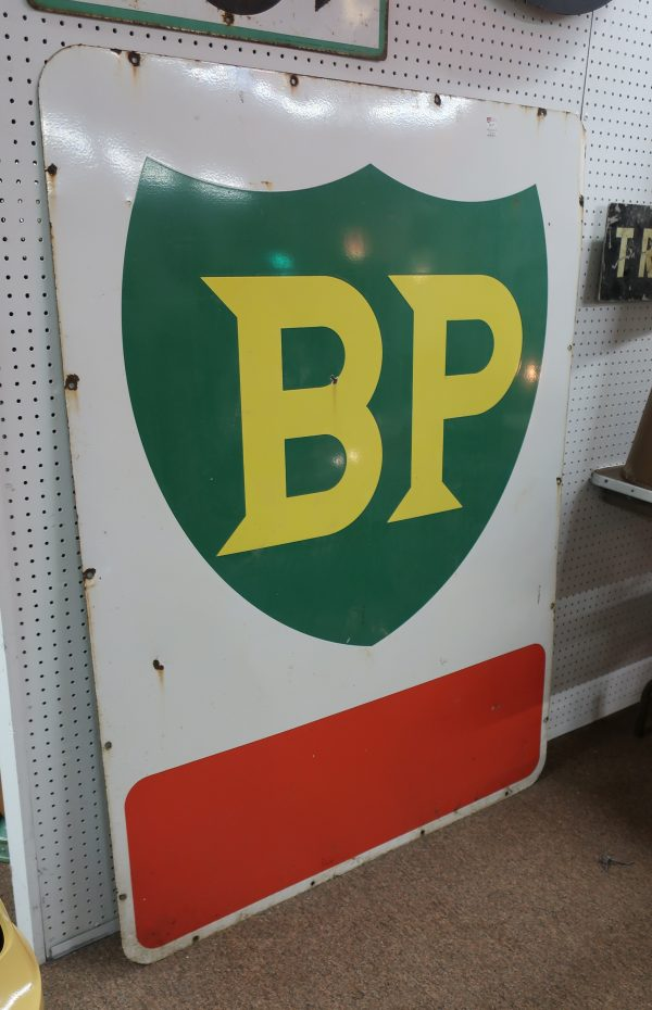 Large Vintage BP Porcelain Sign-60""