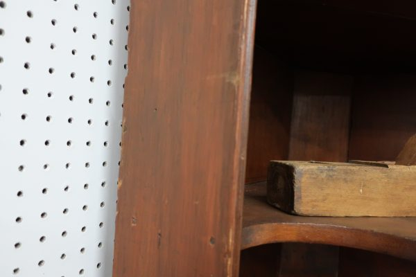 "1700's Corner Cupboard with Bowtie Shelves-84"" tall"