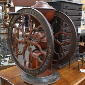 "Number 1200 Chas Parker Coffee Mill with 25"" Wheel-Circa 1898"