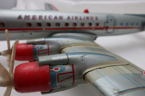 Yozezawa Japan American Airlines Battery Operated Toy Airplane