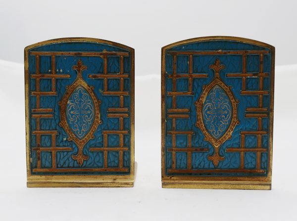 Pair of Tiffany Studios Gilt Bronze Bookends