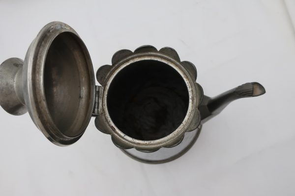 Pewter Trimmed Grey Agate Coffee Pot