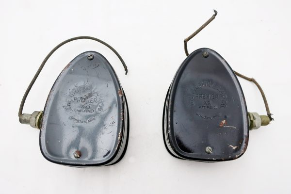 Pair of 1930's Truck Turn Signals Griffin Lamp Co. Premier-Black & Orange