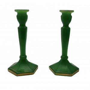 Pair of Jadeite Candlesticks