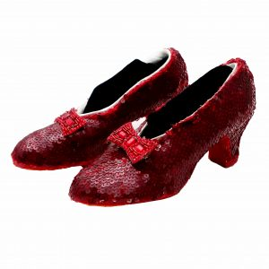 Vintage Hand Sewn Reproduction Ruby Slippers