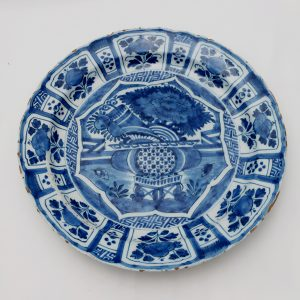 "12"" Blue and White Dutch Delft Kraak Style Charger-Circa 1730"