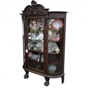 Antique Bow Glass China Cabinet
