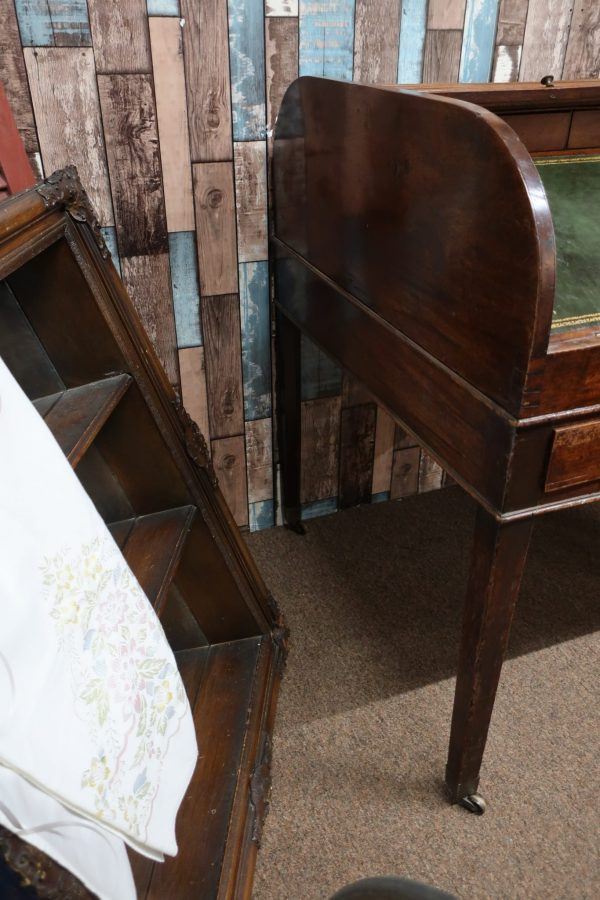 18th Century Roll Top Desk with Leather Top