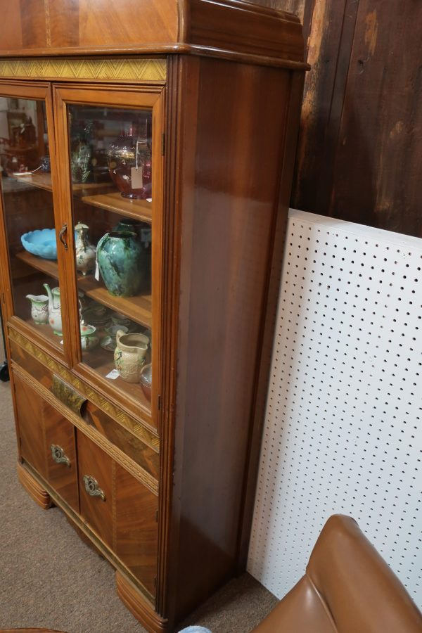 Art Deco Cabinet with Inlays and Original Pulls