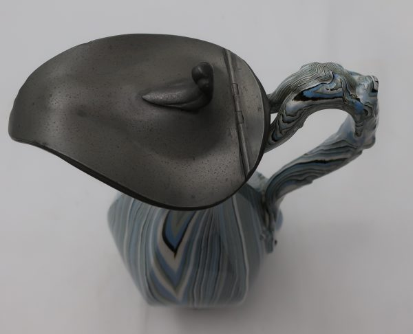 Continental Agate Ware Pottery Syrup Jug